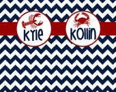 Personalized/Custom Shower Curtain- Nautical Reserved Katie Thomas