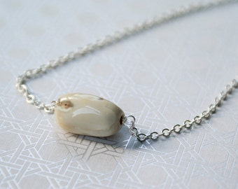 Creamy Agate Stone Necklace