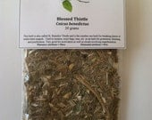 Blessed Thistle - Great for breaking hexes, purification, curses, protection, exorcism and blessing.