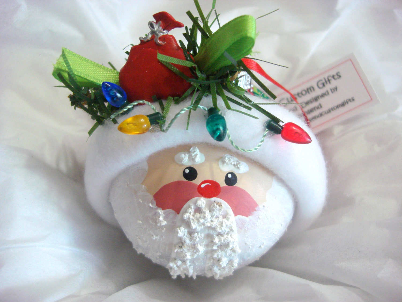 Santa ornament string of christmas lights by townsendcustomgifts - String ornaments christmas ...