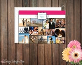 Thank You Cards with a Photo Collage - Set of 10 with Envelopes