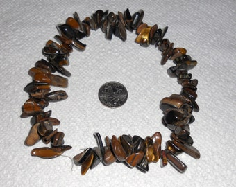 exlarge tigereye natural chips, 15 inch
