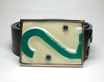 Belt Buckle License Plate Number 2 Two Vintage Minnesota