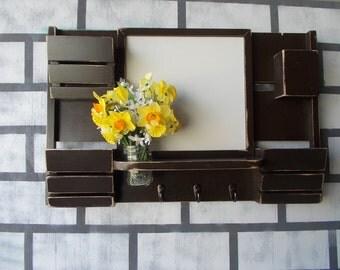 Mail Organizer--Kitchen Recipe card Holder--Dry erase board ==Message Center--Key Hook Rack--Message board --Mud Room