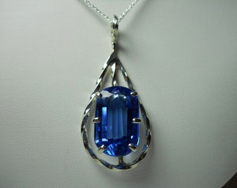 London Blue Topaz Gemstone Pendant