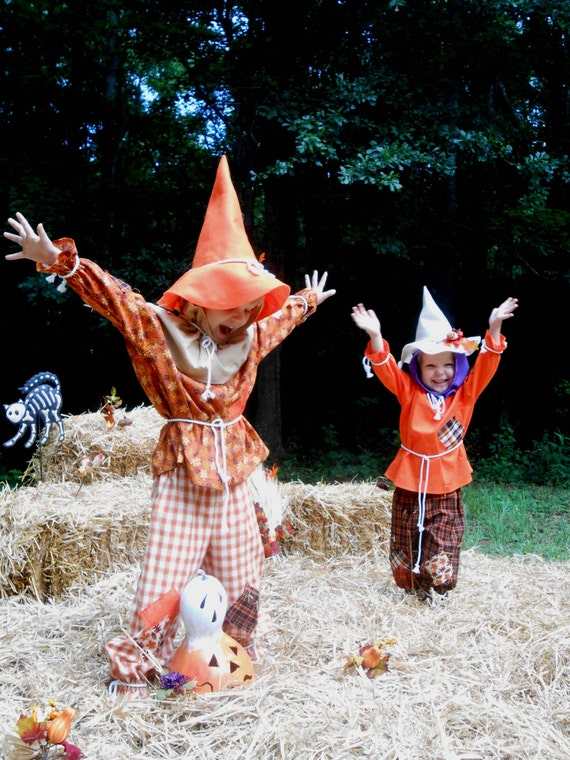 """C145   Ready To Ship in 1 Week   Adorable """"Berry""""  Scarecrow Halloween Costume  Toddler 4"""