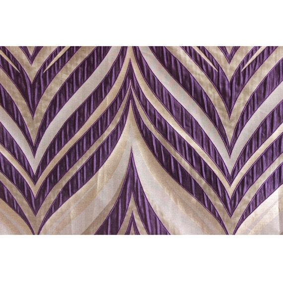 Purple Stripes Curtain Fabric Panels Drapery Fabric Window