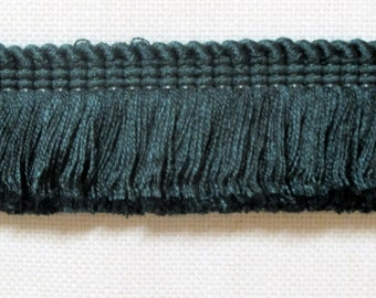 DARK GREEN color brush fringe 1.75 inch