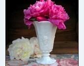 Vintage Milk Glass Vase by Westmoreland