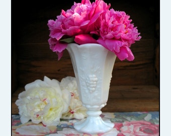 Vintage Milk Glass Vase by Westmoreland