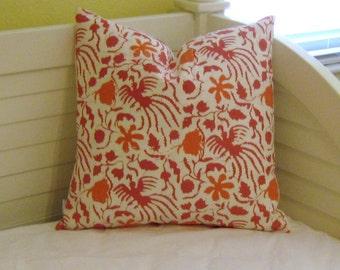 Quadrille China Seas Seya in Azalea Designer Pillow Cover