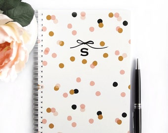 Personalized Notebook - Confetti - Choose your own Monogram