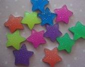 Kawaii star acrylic rhinestones decoden deco diy charm   12 pcs---USA seller