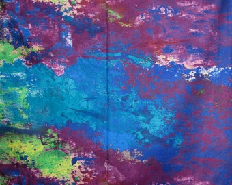 Stunning Wave Border Print by Stephanie Brandenburg Pure Cotton Fabric--One  Yard