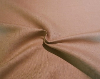 SPECIAL--Classic Camel Herringbone Linen and Cotton Fabric--One  Yard