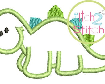 Dinosaur Applique Design 4x4, 5x7 & 6x10  INSTANT DOWNLOAD now available