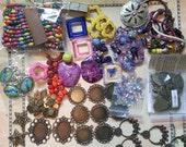 Destash Beads and Findings ENTIRE LOT ~ pictured; variety metal bezels connectors