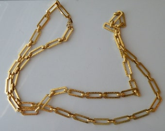 20% off Monet gold plated textured chain. 35 1/4""