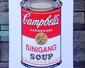 Sinigang soup Andy Warhol tribute screen printed art  print