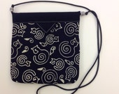 Black and White Cats Quilted Fabric Snap Bag Purse