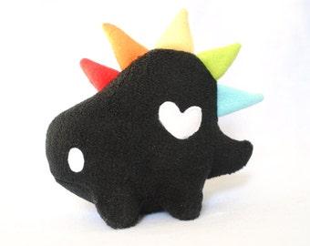 Rainbow and Black Stegosaurus Dinosaur Plush
