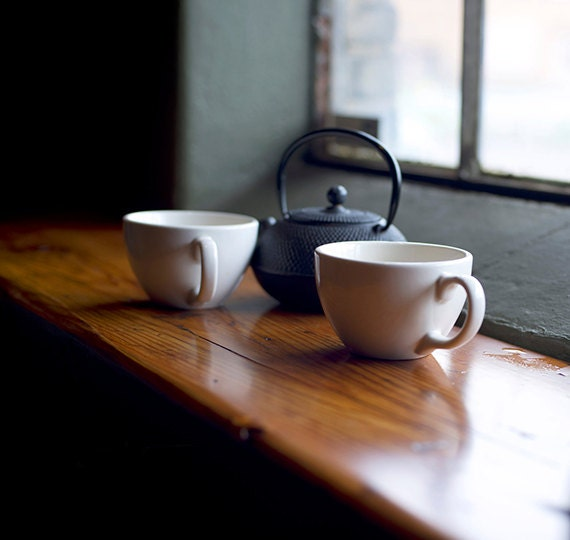 Home decor photography, Bistro, Cafe, Coffee and Tea, Fine art photography, Still-life, Print, Brown, White, Teal, Black