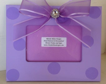 4x6 light purple frame with sheer purple jeweled bow