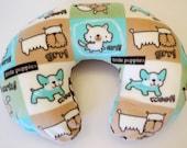 Boppy Nursing Pillow Cover: Doggies with Brown Polka Dot Fleece