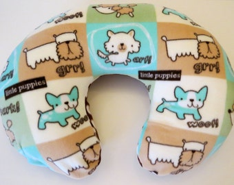 Boppy Nursing Pillow Cover: Doggies with Brown Polka Dot Fleece