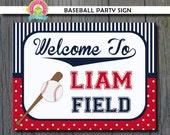 Baseball Party Sign -  Baseball Birthday