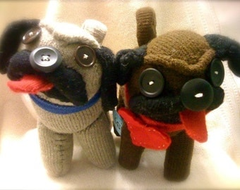 Sock pug and small portrait