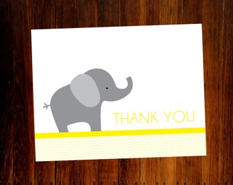 Elephant Thank You Cards - set of 12