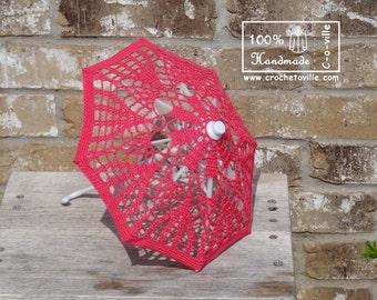 Mini UMBRELLA Parasol , Summer Wedding Flower Girl, American Doll, Center piece - Made to Order