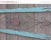 Wrought Iron / Ornate Wrought Iron Decor  / Wall Decor / Shabby Chic / Bedroom Wall Decor / Kitchen Decor