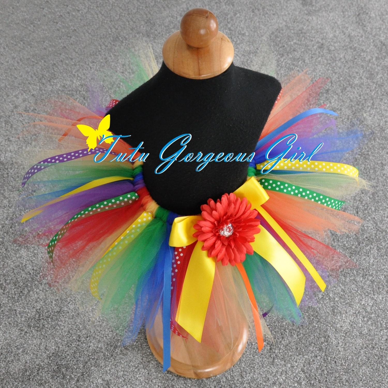 Rainbow Ribbon Birthday Tutu...First Birthday Tutu Photo