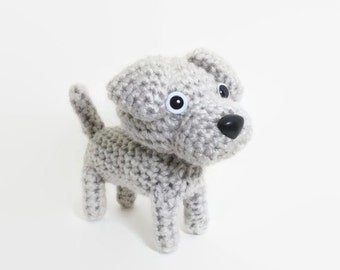 Weimaraner amigurumi Stuffed Animal Crochet Puppy Handmade Plush Doll / Made to Order