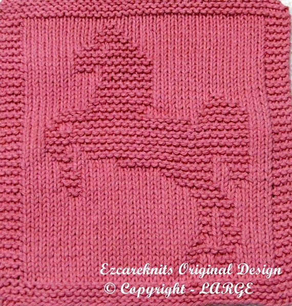 Knit Dishcloth Pattern Horse : Knitting Cloth Pattern LIPIZZANER HORSE PDF