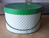 Vintage Candy-Striped Hat Box