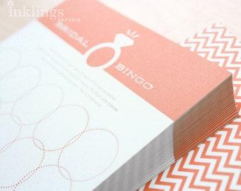 12 Bridal Bingo Cards  //  Bridal Shower Game, Party Game, Bridal Shower Activity, Bachelorette Party Game // Coral