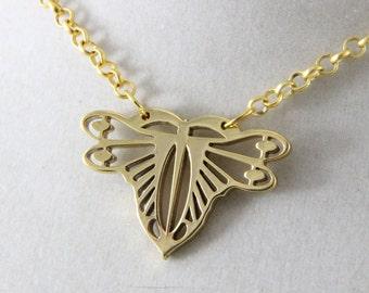 Art Deco Oscarcrow Original Dragonfly Necklace