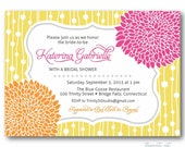 Bridal Shower Invitation - Modern Mums - Wedding Baby Birthday Party - diy printable digital design