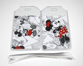 Luggage Tags Set of 2 Mickey & Minnie Mouse