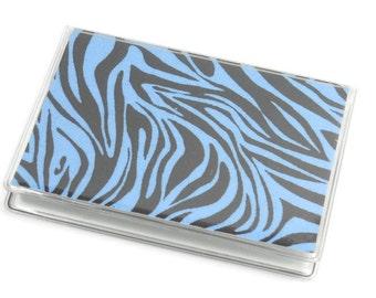 Card Case Mini Wallet Blue Zebra