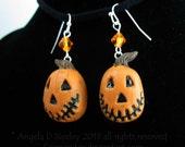Jack'O Lantern Halloween Earrings