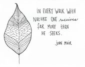 John Muir quote 5x7 blank greeting card