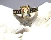 Light Yellow Scapolite Ring Collector Gem Sterling Silver Unique handmade 4 5 6 7 8 9 10 11 12 13 half sizes fine jewelry engagement