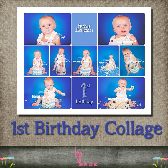 cake smash template storyboard collage 1st birthday first blog. Black Bedroom Furniture Sets. Home Design Ideas