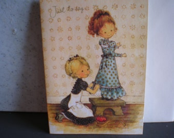 Vintage 1970's Unused Greeting Card - Thinking Of You