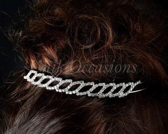 Rhinestone Bridal Headband - Style 13