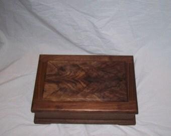 Fancy Walnut Jewelry Box from our Prestige Collection 15''x10 1/4''x5'' Handmade Wood Box